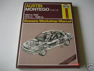 Austin Montego 1.3, 1,6 1984-1992- Haynes Manuale Officina Nuovo