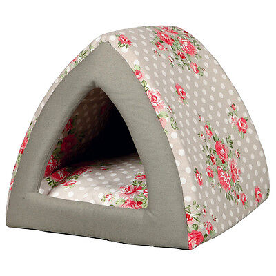 Trixie Nid douillet Rose taupe/blanc pour chats, différentes tailles, NEUF