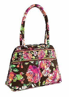ENGLISH ROSE Vera Bradley Purse BOWLER BAG New With Tags