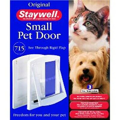 Staywell Cat Flap Small Pet Cat & Dog Door 2 or 4 Way Flap