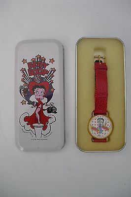 1994 KFS BETTY BOOP WRIST WATCH With Moving Eyes NEW IN BOX  FLEISHER STUDIOS