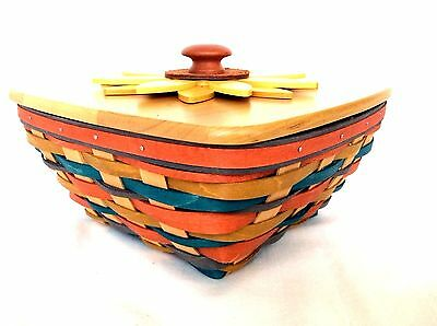 2016 SUNFLOWER Collector Club Basket Lid & Protector Longaberger NEW LAST ONE