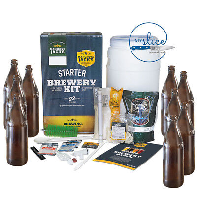 Mangrove Jack's Starter Brewing Kit & 24 Crown Seal Glass Bottles - Home Brew