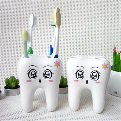 4 Holes Tooth Style Shavers Toothbrush Holder Bracket Razor Container Bathroom