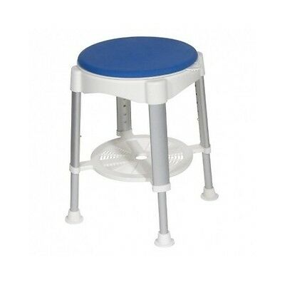 Shower Stool Swivel Top Chair Medical Safety Mobility Devise Handicap Seat Shelf
