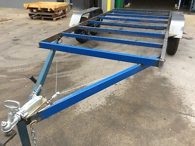 Brand New Budget Car Trailer Flat bed Frame Tandem axle 14X6.6FT 2T USE4 RACE