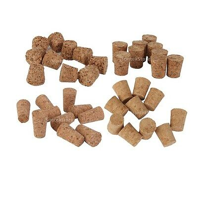 Various SIZES - 10 TAPERED Wine Cork Bung Bottle Stoppers DIY Craft Art Pendants