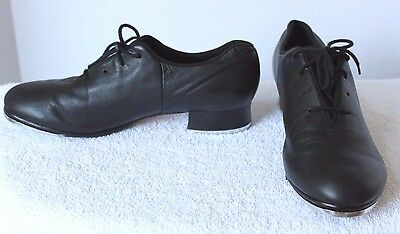 BLOCH Audeo Black Leather Tap Dance Shoes womens size 9.5M; EUC