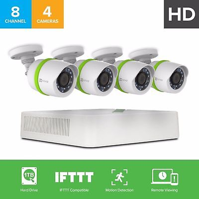 EZVIZ 8CH Video Security System with 1TB HDD and 4HD 720p Cameras BD-2804B1