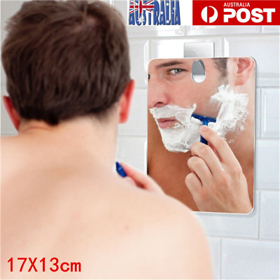 Anti-Fog Fog Free Shower Mirror Fogless Shaving Shave Mirror Bathroom 17X13cm