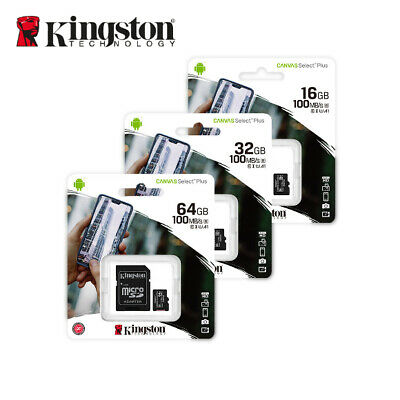 Kingston  80MB 8GB 16GB 32GB 64GB Micro SD SDHC SDXC Class10 Memory Card TF