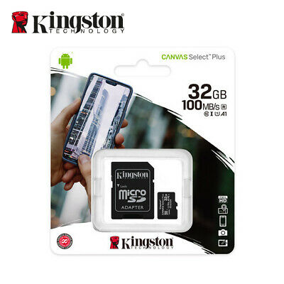 Kingston 32GB Micro SD SDHC / SDXC Class10 Memory Card TF 80MB /s R with Adapter