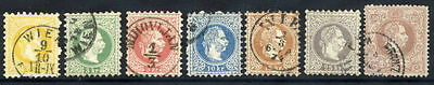 AUSTRIA 1867 Franz Joseph coarse print set to 50 Kr., fine used