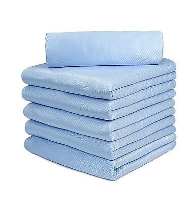 "24p Microfiber Towel Diamond Weave Mirror Window Glass Cleaning Rag 16""x16"" Blue"