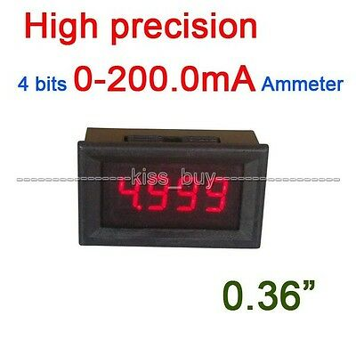 DC 0-200MA Digital Ammeter LED AMP Meter Tester Current 5V 12V 24V CAR shunt