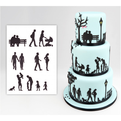 Patchwork Cutters - Family Silhouette Cutter Set - Sugarcraft Cake Decorating
