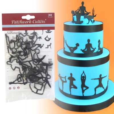 Patchwork Cutters - Yoga / Exercise Silhouette Cutter Set - Sugarcraft