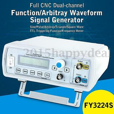 24MHz Dual Channel DDS Function Signal Generator Arbitrary Waveform FY3224S NEW