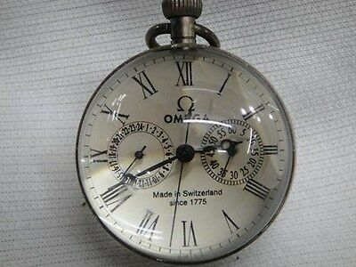 2.5 inch / Works CHINESE vintage BRASS GLASS pocket watch BALL clock • £9.97