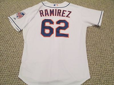 Elvin Ramirez #62 2013 Mets Game Jersey Home White Size 48 All Star game patch