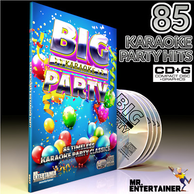 Mr Entertainer BIG Karaoke PARTY. 4 CD+G Disc Set. 85 Timeless Party Hits