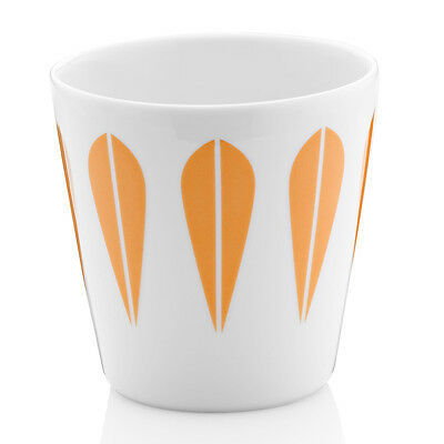 Ideal Gift Ceramic Earthenware Lotus Leaf Design Coffee Tea Mug Cup Orange 0.25L