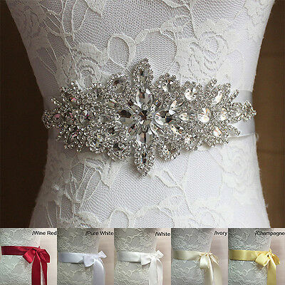 Handmade Crystals Diamond Rhinestone Sash Bride Queen Artificial Wedding Belt