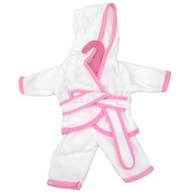 """Pink Trim White Pajamas Clothing for 18"""" American Girl Our Generation Dolls"""