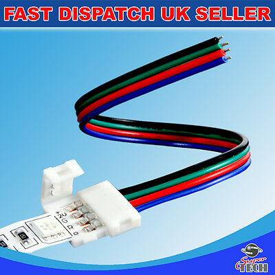 10 X 10mm 4 pins PCB strip to power IP20 snap led strip soldeless connector RGB