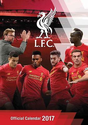 Liverpool Fc Official Uk 2017 Large Poster Wall Calendar New & Sealed