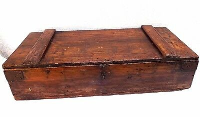 "Antique 1900's Carpenters Pine Tool Box-28 1/2""(72.5)x 13 1/2""(34)x 6 1/2""(16.5)"