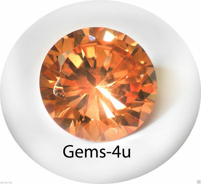 Lab Created Russian Champagne Round Gemstones 8Mm Fast & Free Delivery