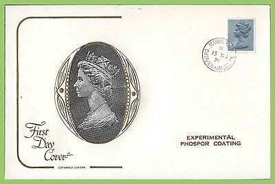 GB 1974 4½p Def Experimental Phosphor Coating on Cotswold FDC Chippenham Cancel