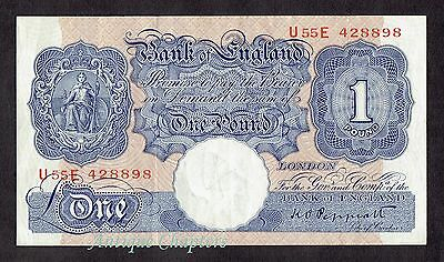 VF+ Bank Of England Peppiatt Blue One Pound Banknote £1 Note A266