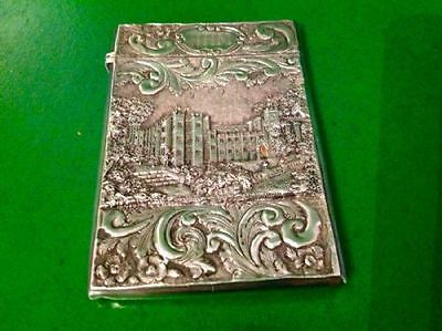 Nathaniel Mills Double Castle Top Antique English Sterling Silver Card Case 1849