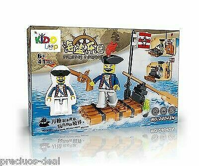 Pirates Red Dragon /& Boat 64pc Captain Jack Caribbean Ship Building Bricks Set