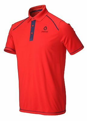 Sunderland Contrast Placket Golf Polo Shirt   Red Large