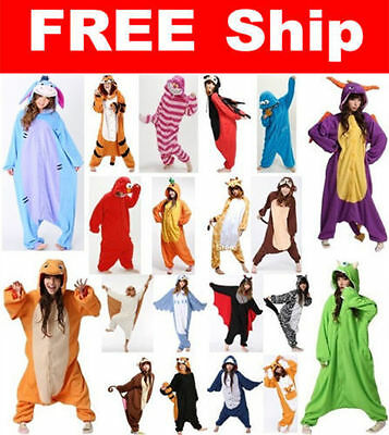 Hot/Unisex Adult Pajamas Kigurumi Cosplay Costume Animal Onesie Sleepwear Suit~!