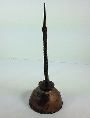 Vintage Push Bottom Oil Can Eagle Oiler Squirt Copper USA Garage Collectible