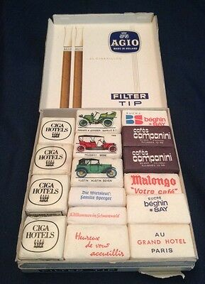 VINTAGE LOT of 17 RESTAURANT Hotel Cafe SUGAR CUBES DIFFERENT COUNTRIES Ciga