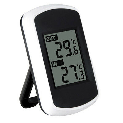 IN/ OUTDOOR WIRELESS WEATHER STATION DIGITAL LCD THERMOMETER Remote Sensor