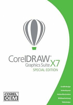 CorelDRAW Graphics Suite X7 Special Edition OEM DVD-Box Deutsche Vollversion NEU
