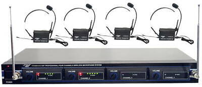 NEW PYLE 4 HEADSET WIRELESS LAVAlIER MICROPHONE SYSTEM PDWM4400 microphones