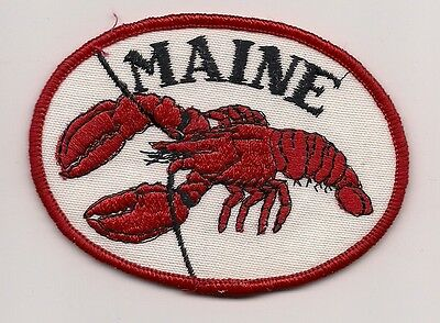 Souvenir Patch - State Of Maine - Lobster