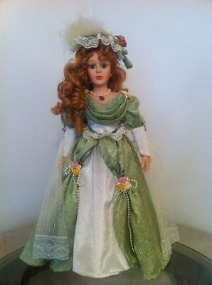 Lot of 3 Vintage Collectible Porcelain Dolls With Stands