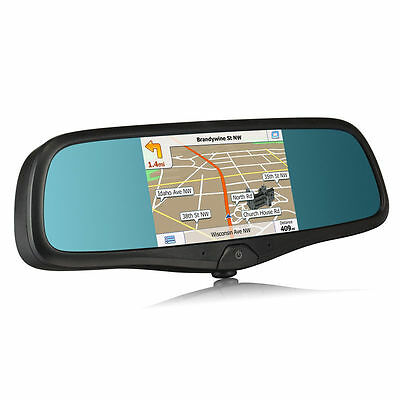 5″ Rear view Mirror Monitor with DVR Dash Cam GPS Navigation Bluetooth Handsfree