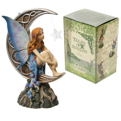 """Lisa Parker """"Light of the Moon"""" Figurine Statue Fairy - Great Girls Gift"""