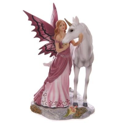 "Lisa Parker ""Mystical Friend"" Figurine Statue Unicorn Fairy - Great Girls Gift"
