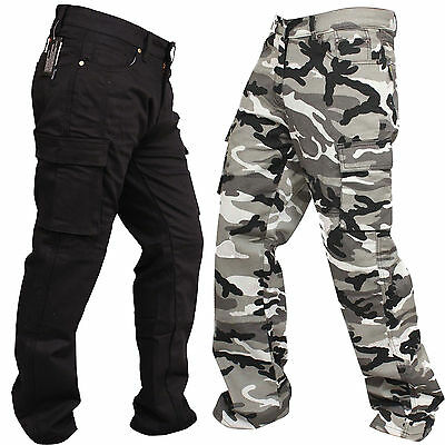 New Motorcycle Cargo Jeans REINFORCED WITH DuPont™ KEVLAR® ARAMID FIBRE All size