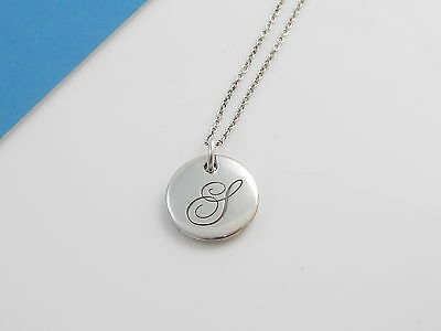 Tiffany & Co Silver Small Notes Alphabet Letter S Necklace!